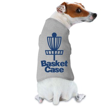 Disc Golf Basket Case Doggie Skins Dog Ringer Tee