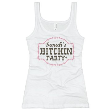 Hitchin Party! Junior Fit Basic Bella 2x1 Rib Tank Top