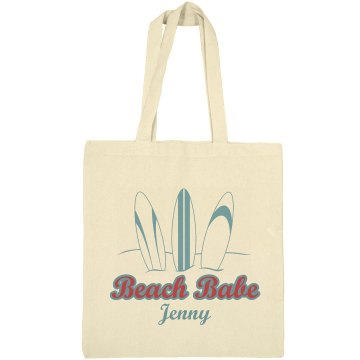 Beach Babe Tote Liberty Bags Canvas Bargain Tote Bag