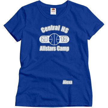 Central HS Camp Misses Relaxed Fit Gildan Heavy Cotton Tee