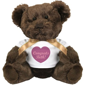 Baby Girl Congrats Plush Baby Shower Teddy Bear