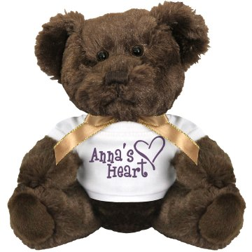 Anna's Heart Plush Bulldog