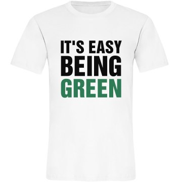 It's Easy Being Green Misses Relaxed Anvil Organic Tee