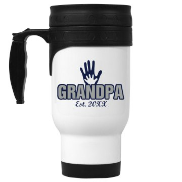 Grandpa Mug 14oz White Stainless Steel Travel Mug