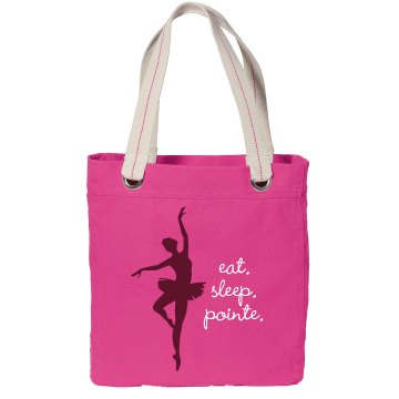 Eat. Sleep. Pointe. Port Authority Color Canvas Tote