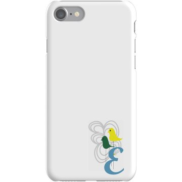 Custom E Monogrammed Case Plastic iPhone 5 Case White
