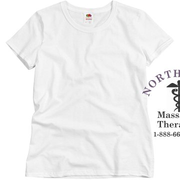 Northwest Massage Therapy Misses Relaxed Fit Basic Gildan Heavy Cotton Tee