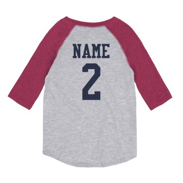 Son Baseball Tee Youth Anvil 3/4 Sleeve Raglan Baseball Tee