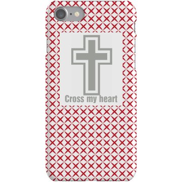 Cross My Heart Plastic iPhone 5 Case White