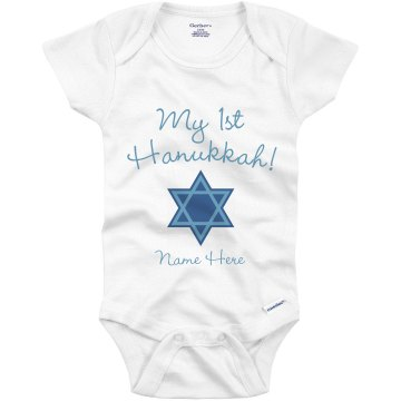 1st Hanukkah Infant Bella Baby Long Sleeve Thermal Creeper