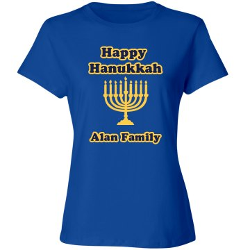 Hanukkah Celebration Misses Relaxed Fit Gildan Ultra Cotton Tee