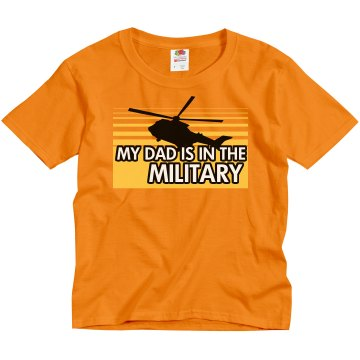 Dad Is In The Marines Youth Gildan Heavy Cotton Crew Neck Tee