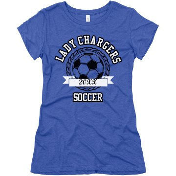 Girls Soccer Tee Junior Fit Bella Triblend Tee
