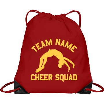 Central High Cheer Squad Port &amp; Company Drawstring Cinch Bag
