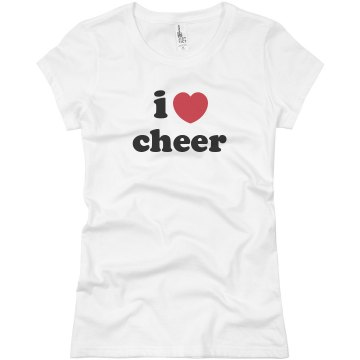 I Love Cheer Junior Fit Basic Bella Favorite Tee