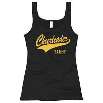 Cheerleader Tabby Junior Fit Bella Longer Length 1x1 Rib Tank Top