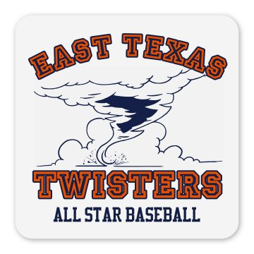Twisters Team Magnet Square Magnet