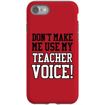 Don't Make Me Use... Rubber iPhone 4 & 4S Case Black