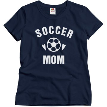 Soccer Rhinestones Misses Relaxed Fit Gildan Ultra Cotton Tee