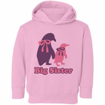 Big Penguin Sister Toddler Rabbit Skins Hooded Sweatshirt