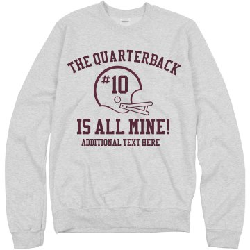 Quarterback is Mine Misses Relaxed Fit Anvil V-Neck Tee