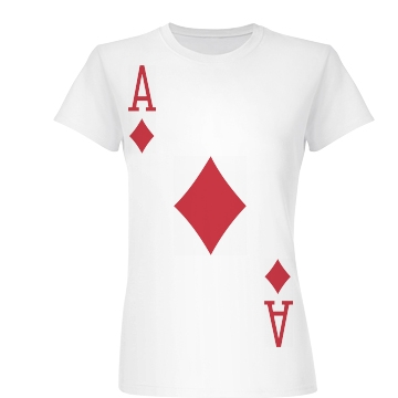 Ace of Diamonds Costume Junior Fit Basic Bella Favorite Tee