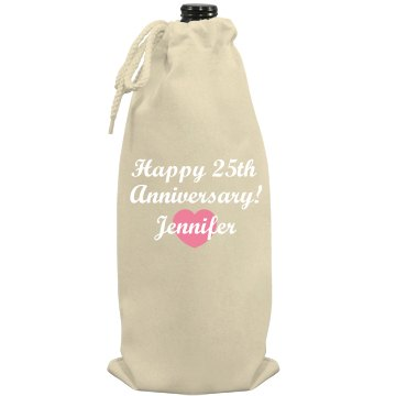 Happy Anniversary Wine Port Authority Wine Bag