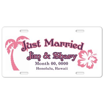 Just Married Plate License Plate