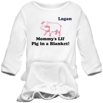 Pig In A Blanket Infant Bella Baby 1x1 Rib Long Sleeve Sleeper