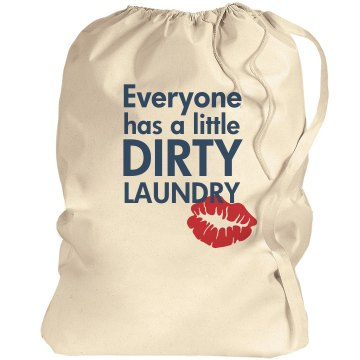 Dirty Laundry Red Lips Port Authority Laundry Bag