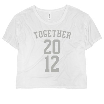 Together Tees Misses Bella Flowy Boxy Lightweight Crop Tee