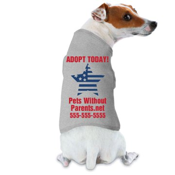 Adopt Me Parade Tee Doggie Skins Dog Tank Top