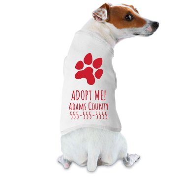 Adoption Parade Tee Doggie Skins Dog Tank Top
