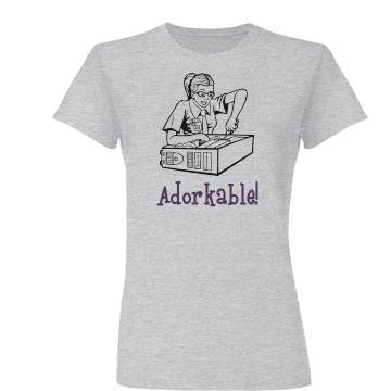 Adorkable Computer Geek Junior Fit Basic Bella Favorite Tee
