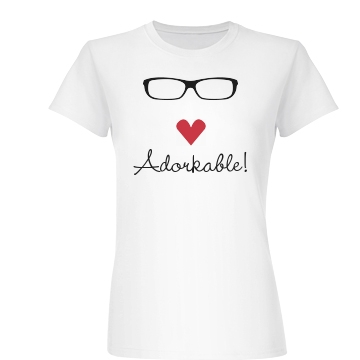 Adorkable Graphic Tee Junior Fit Basic Bella Favorite Tee