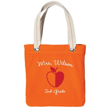 2nd Grade Tote Port Authority Color Canvas Tote