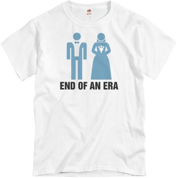 End Of An Era Groom Unisex Basic Gildan Heavy Cotton Crew Neck Tee