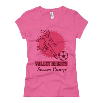 Valley Heights Soccer Junior Fit Basic Bella Favorite Tee