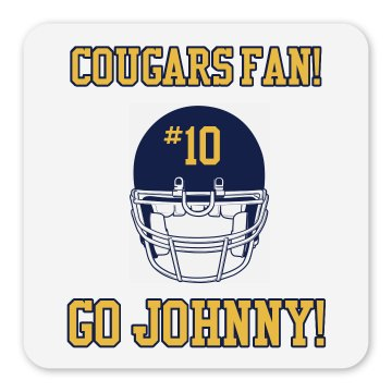 Cougars Fan Magnet Square Magnet