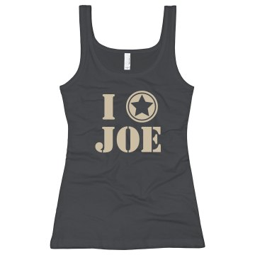I Heart Joe Junior Fit Bella Sheer Longer Length Rib Strap Tank Top
