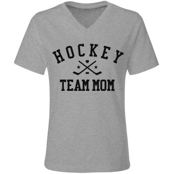 Hockey Mom Rhinestone Misses Relaxed Fit Gildan Ultra Cotton Tee