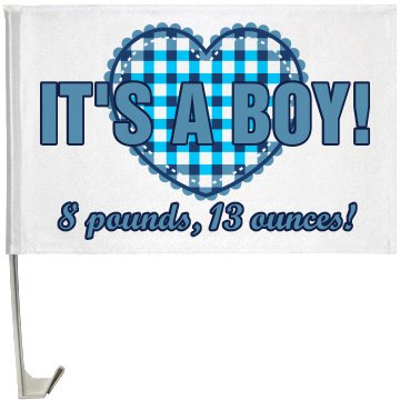 Baby Announcement Flag One-Sided Driver Side Car Flag