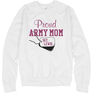 Army Mom Tee Misses Relaxed Fit Anvil V-Neck Tee