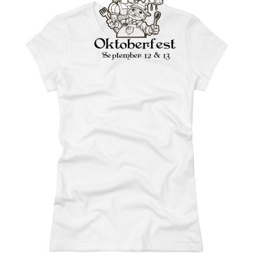 Annual Oktoberfest Junior Fit Basic Bella Favorite Tee