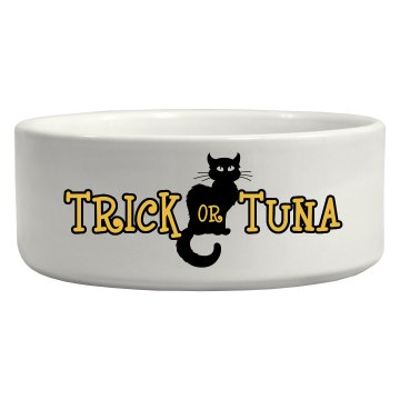 Trick Or Tuna Pet Bowl Ceramic Pet Bowl