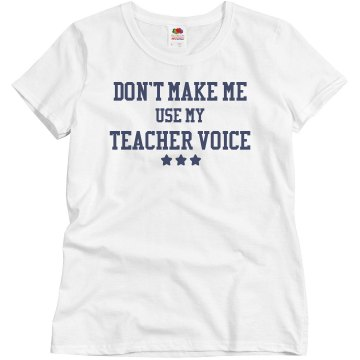 My Teacher Voice Misses Relaxed Fit Basic Gildan Ultra Cotton Tee