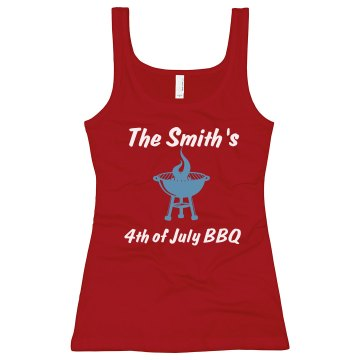 The Smith's BBQ Junior Fit Bella Sheer Longer Length Rib Tank Top