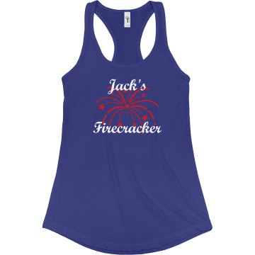 Jack's Firecracker Junior Fit Bella Sheer Longer Length Rib Racerback Tank Top