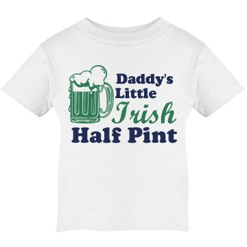 Daddy's Little Half Pint Infant Rabbit Skins Lap Shoulder Tee