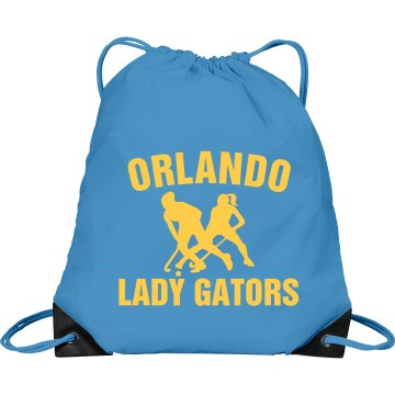 Orlando Field Hockey Port & Company Drawstring Cinch Bag